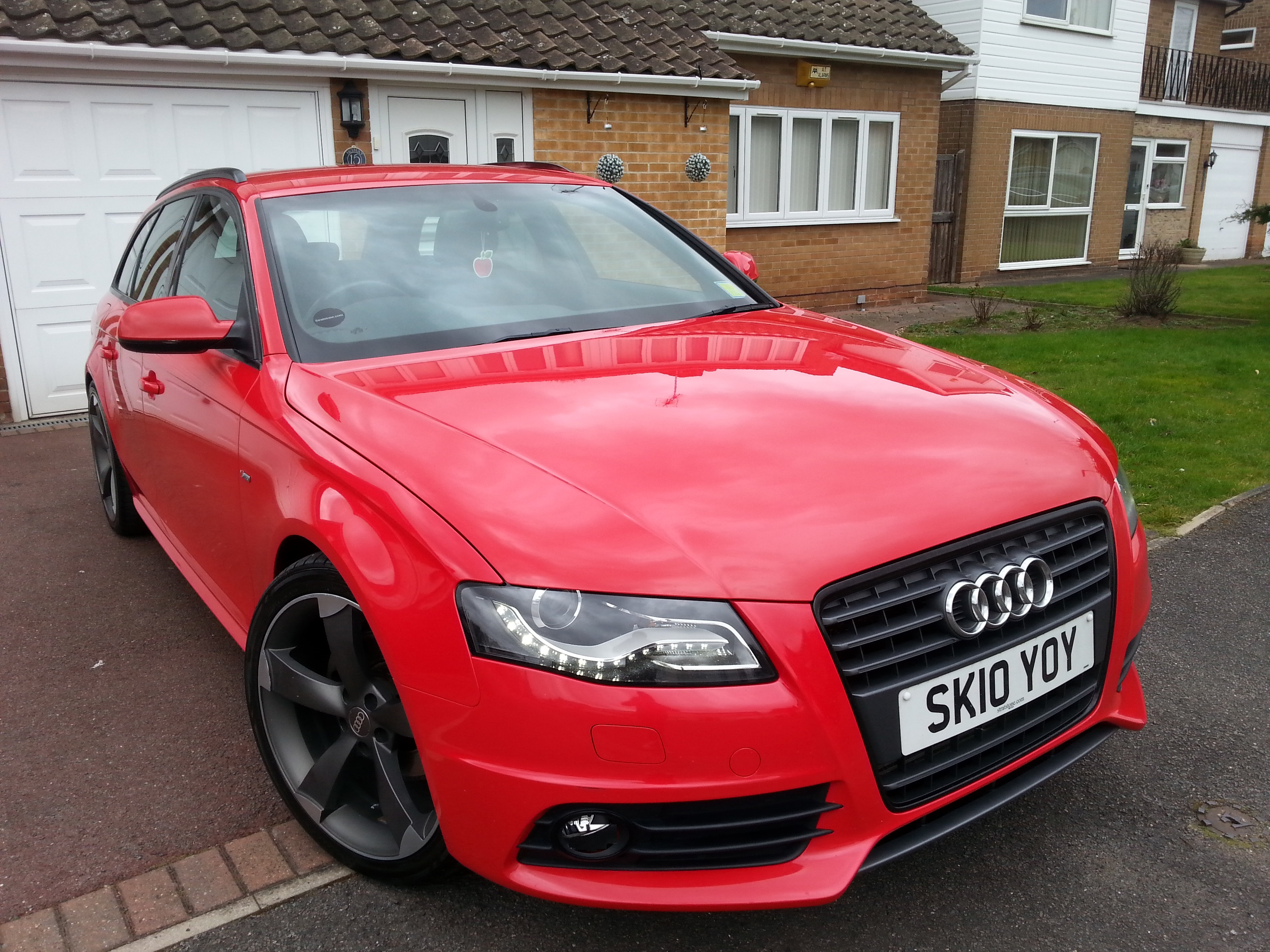 My 2010 Red A4 B8 2.0 TDI S LINE Avant Black edition Build ...