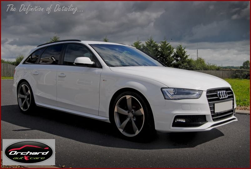audi a4 avant s line black edition in white. Black Bedroom Furniture Sets. Home Design Ideas