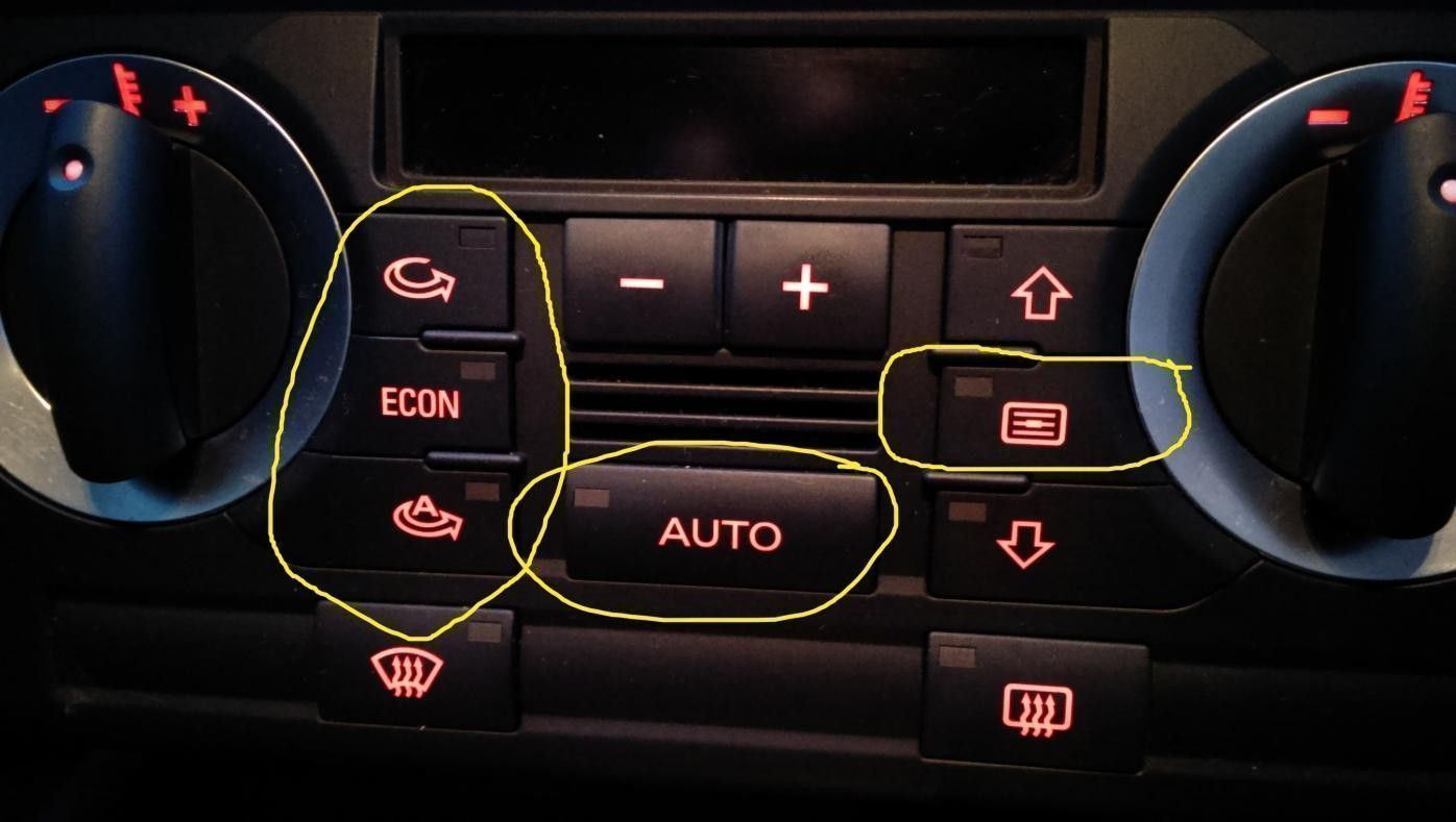 Noob question   What are these buttons? | Audi-Sport net