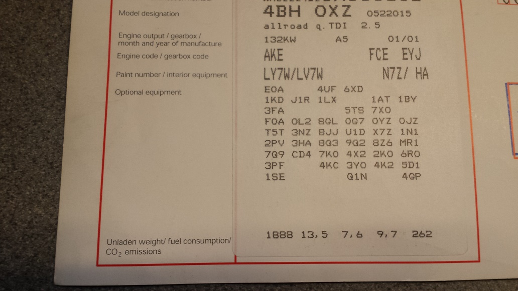 allroad 2 5tdi auto gearbox code compatability | Audi-Sport net