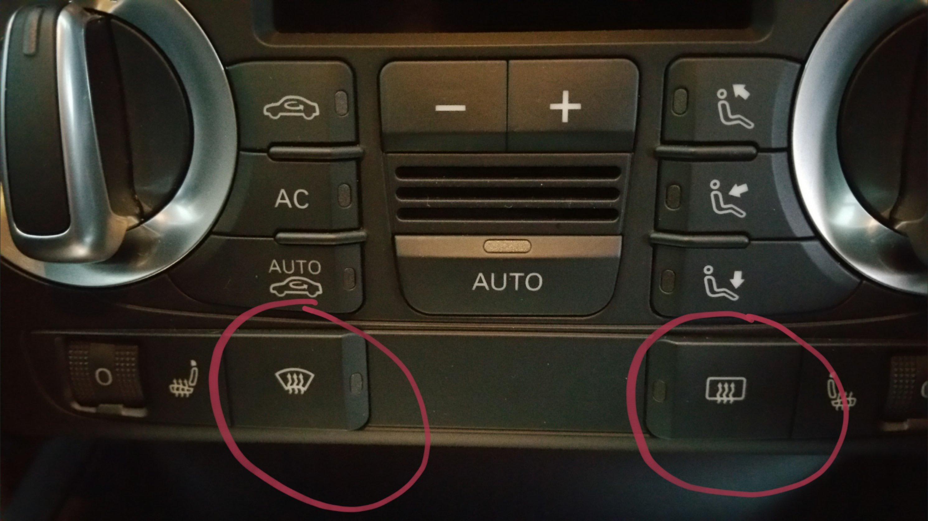 Front screen defrost button ? | Audi-Sport net