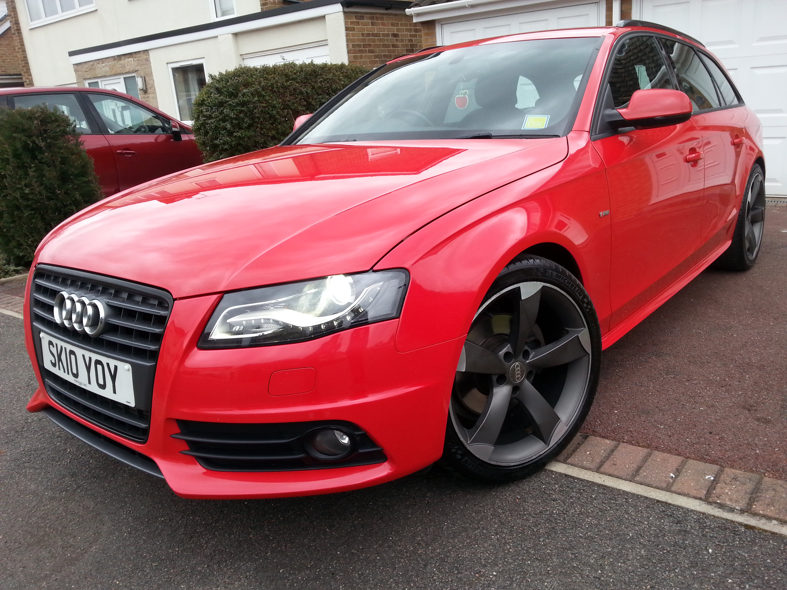 my 2010 red a4 b8 2 0 tdi s line avant black edition build audi. Black Bedroom Furniture Sets. Home Design Ideas