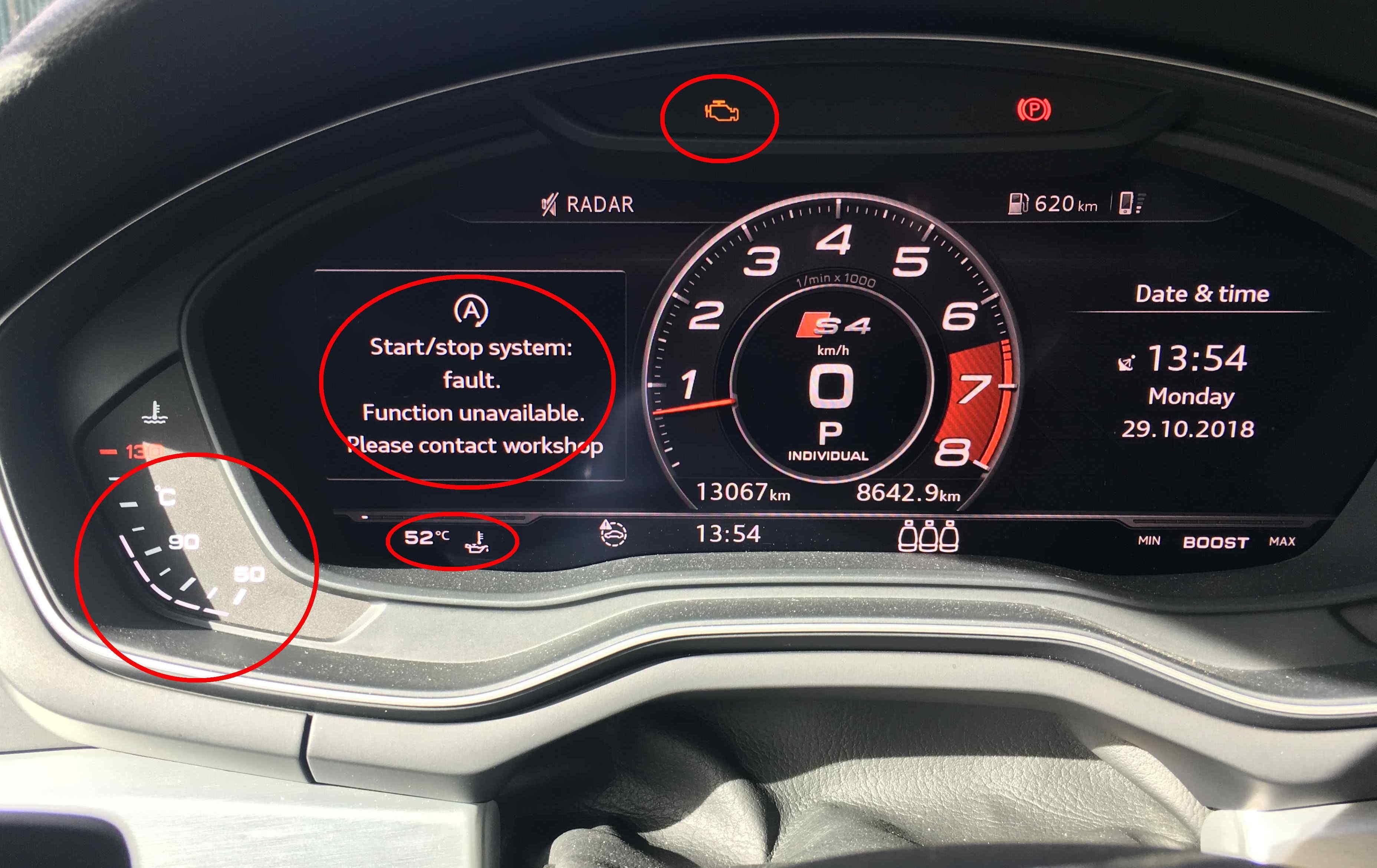 Start/Stop system fault | Audi-Sport net