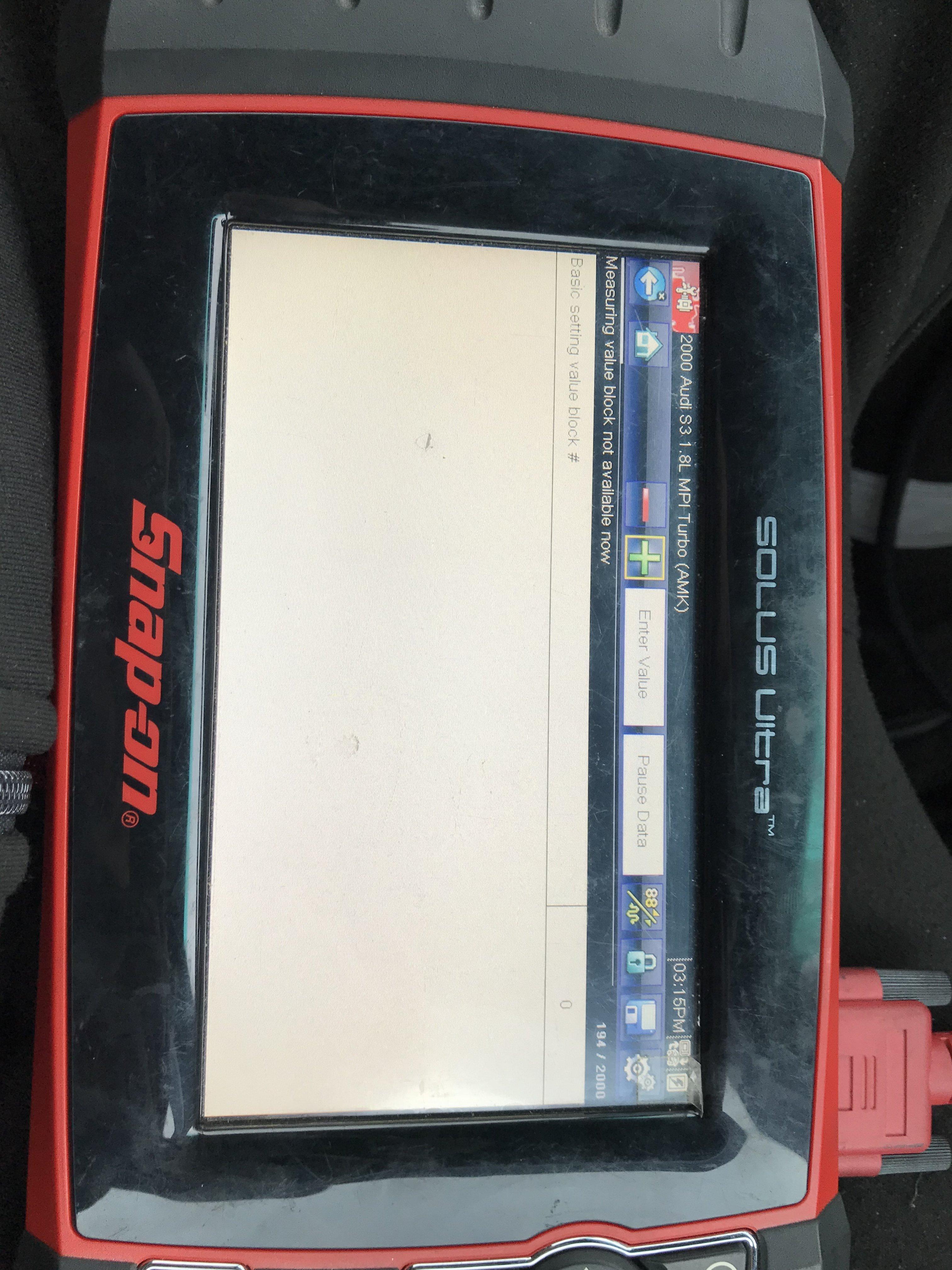 S3 8L can't calibrate steering angle sensor | Audi-Sport net