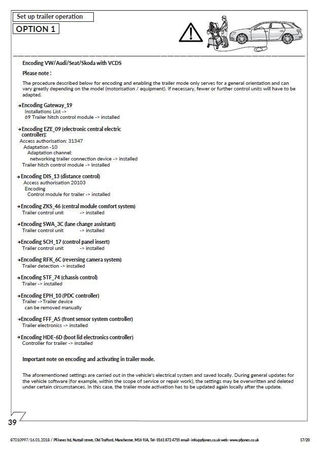 A4 B9 - Towbar coding | Audi-Sport net