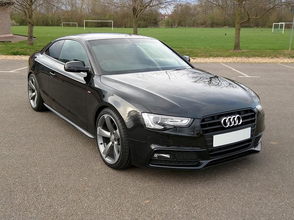 A5 Black Edition lowered amp spaced H amp R Sport Springs