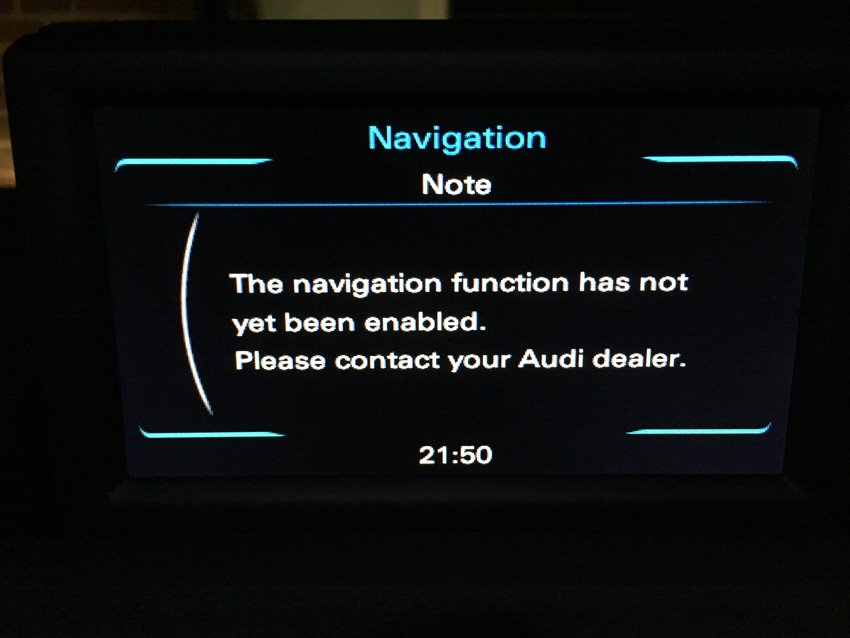 A1 sat nav activation | Audi-Sport net