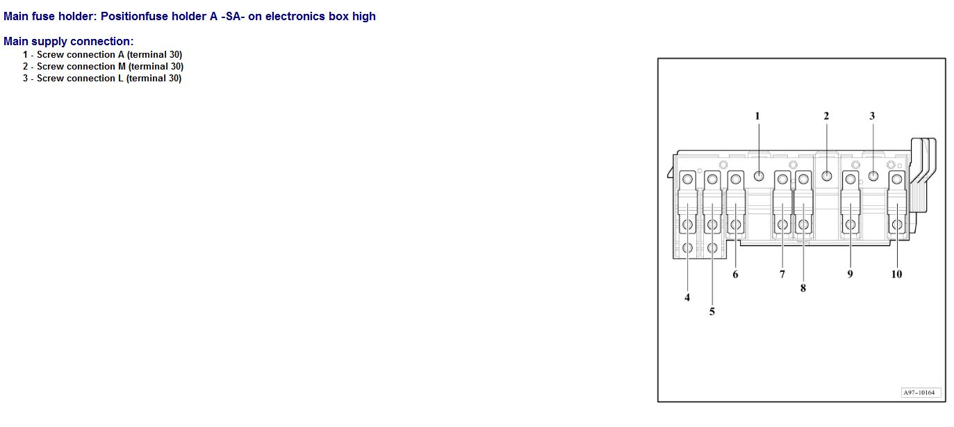 Audi A3 3 2 Fuse Box Explained Wiring Diagrams Diagram Q3 Mysterious Battery Drain 1 4a With Car Locked Sport Net 2006 A4