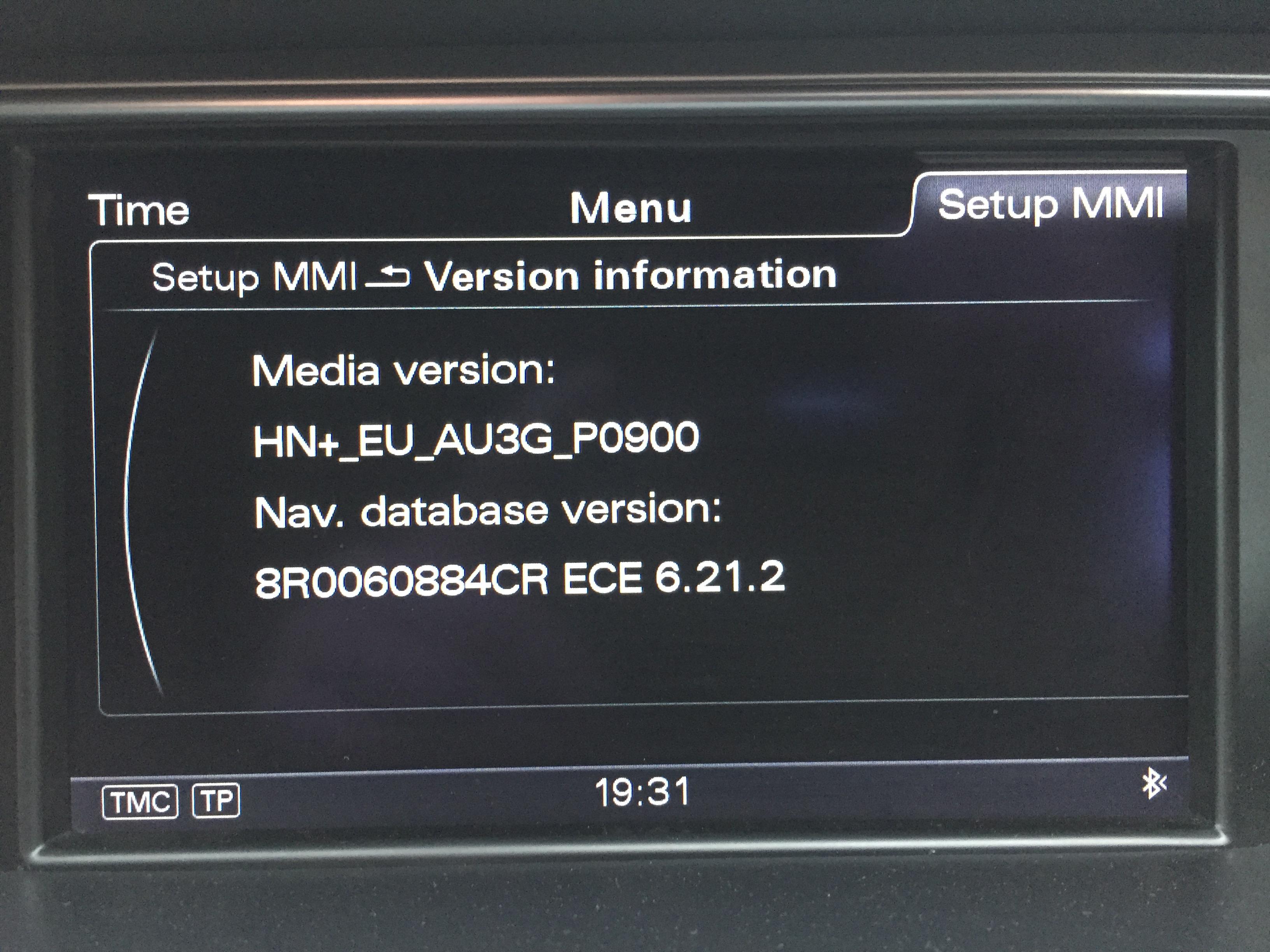 Audi A4 Allroad current firmware.JPG