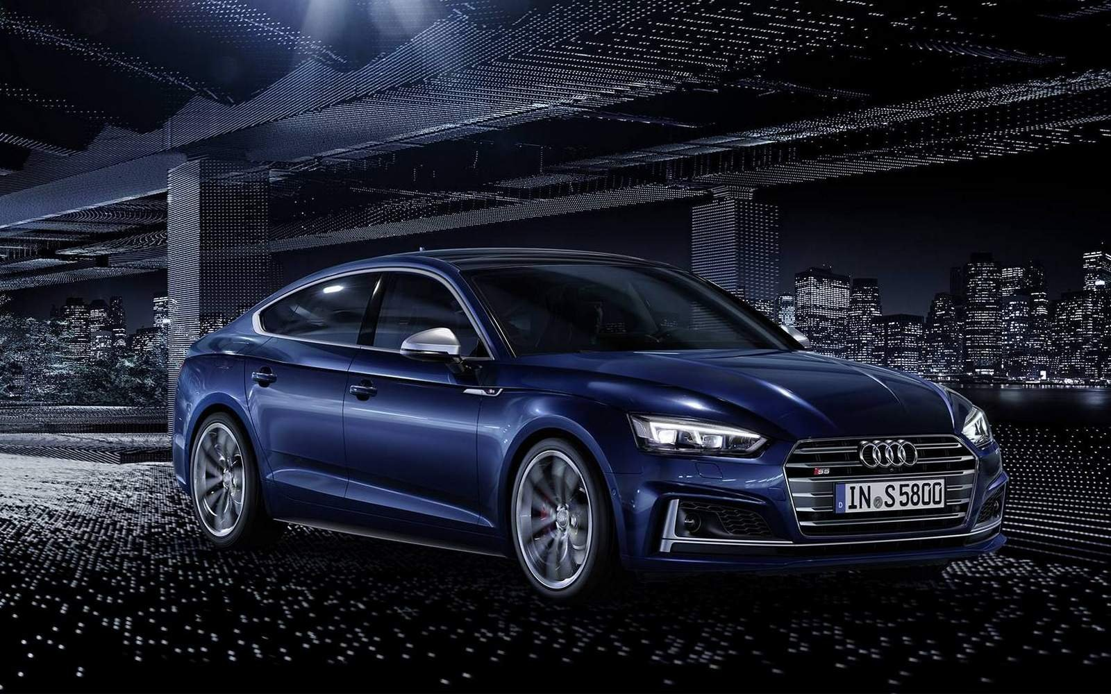 any pics of the new 2017 audi s5 sportback in navarra blue audi. Black Bedroom Furniture Sets. Home Design Ideas