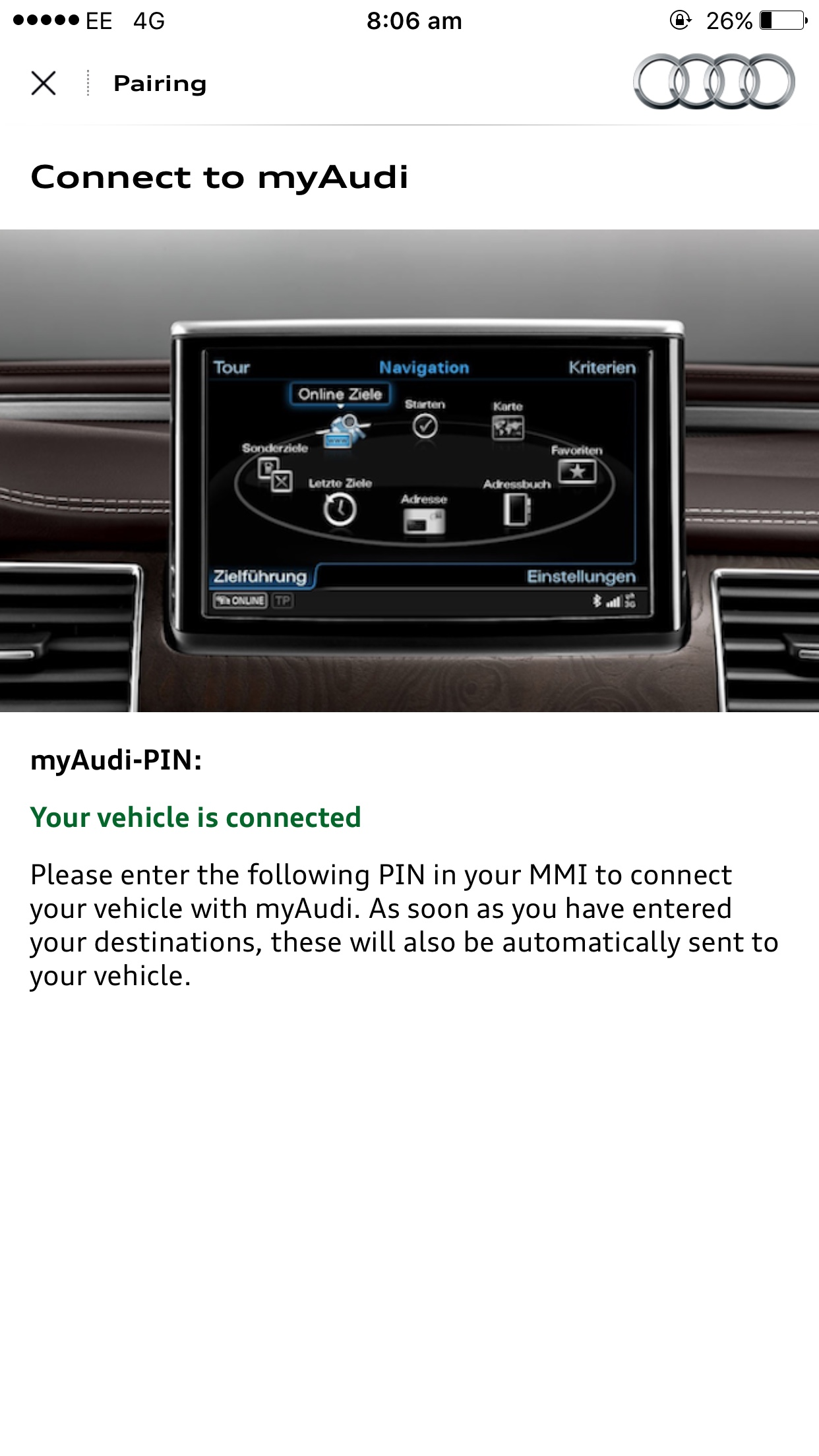 New A4 - Audi Connect Issues | Audi-Sport net
