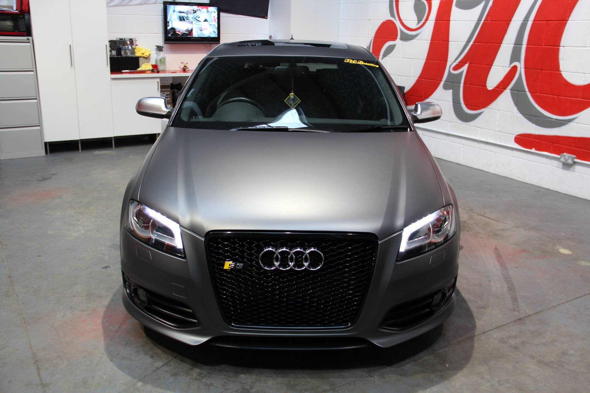 my matte grey s3 audi. Black Bedroom Furniture Sets. Home Design Ideas