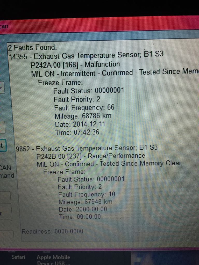 Exhaust Gas Temp Sensor On The Mrs Audi A1 Audi