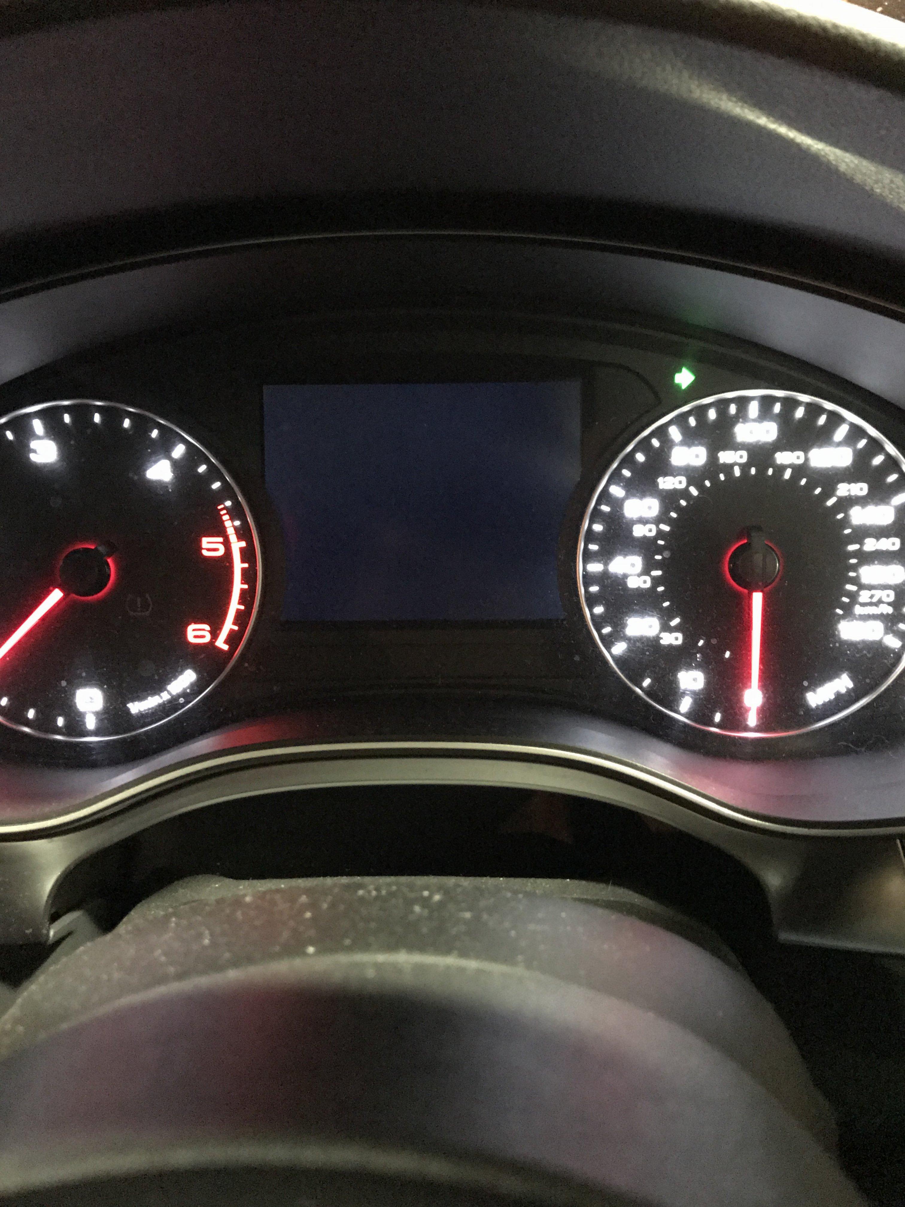 Display blank? A6 c7 | Audi-Sport net