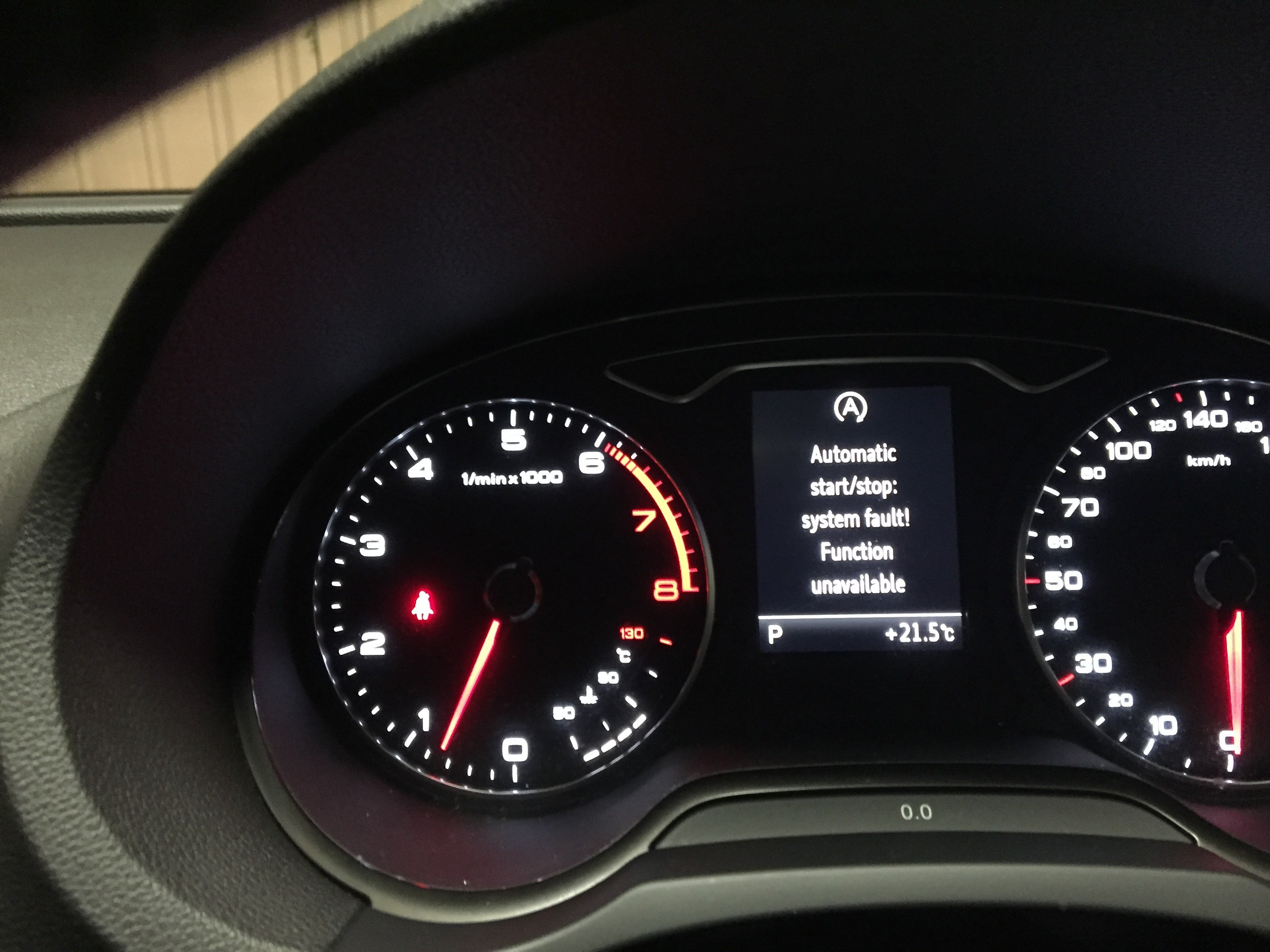 Automatic Start stop not functioning / Error Automatic Start