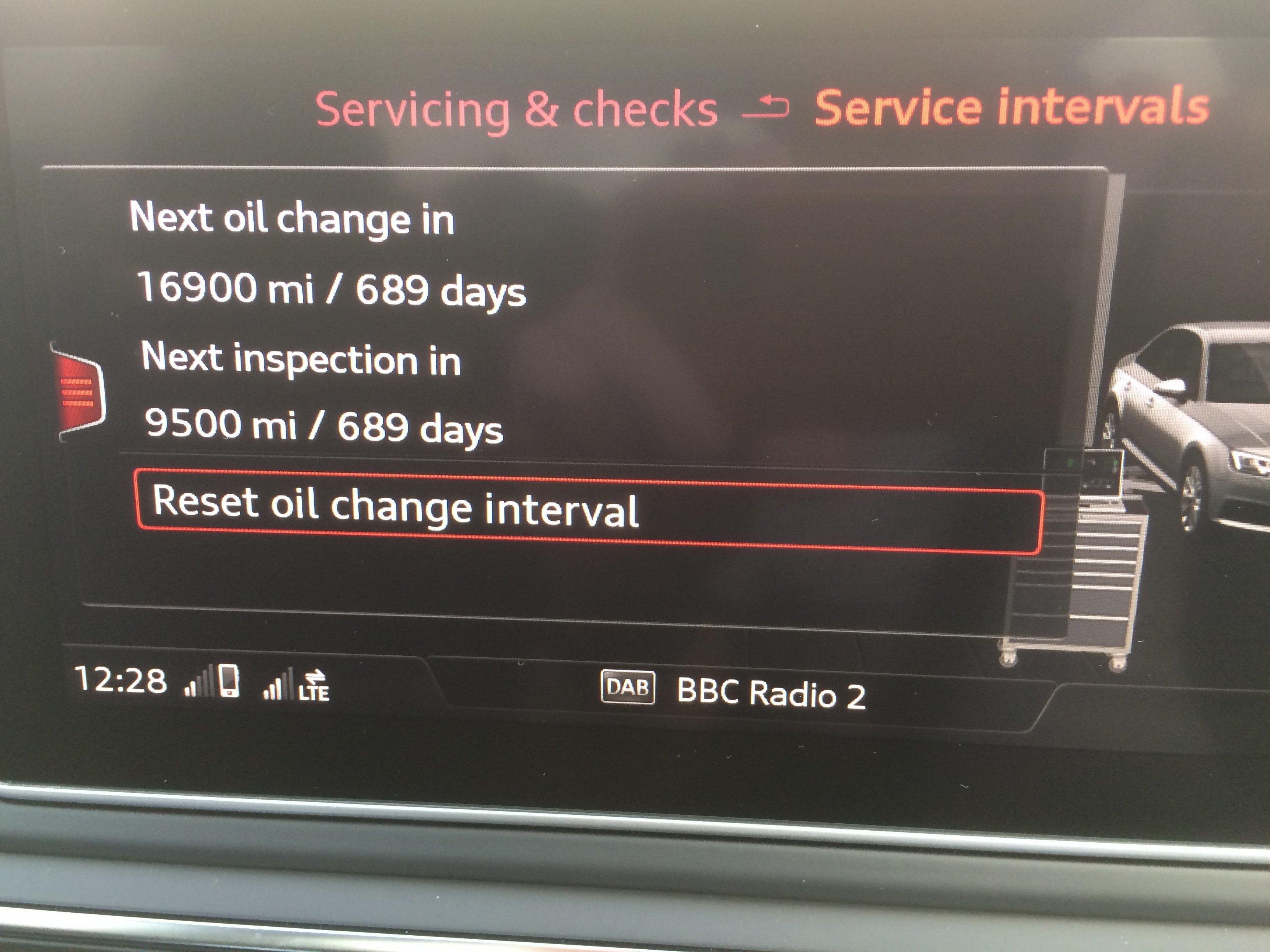 Service Interval | Audi-Sport net
