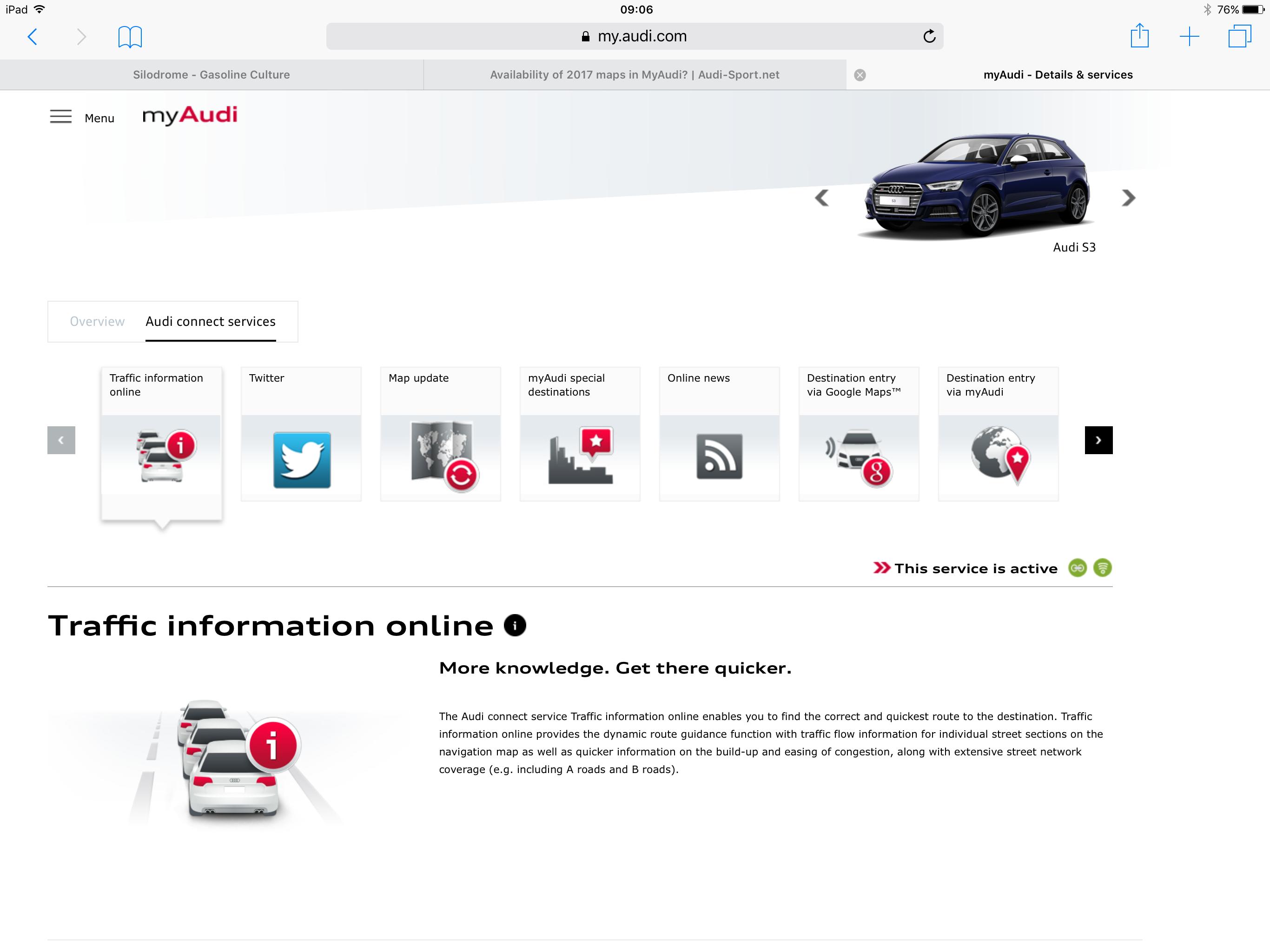 Availability Of 2017 Maps In Myaudi Audi Sport Net