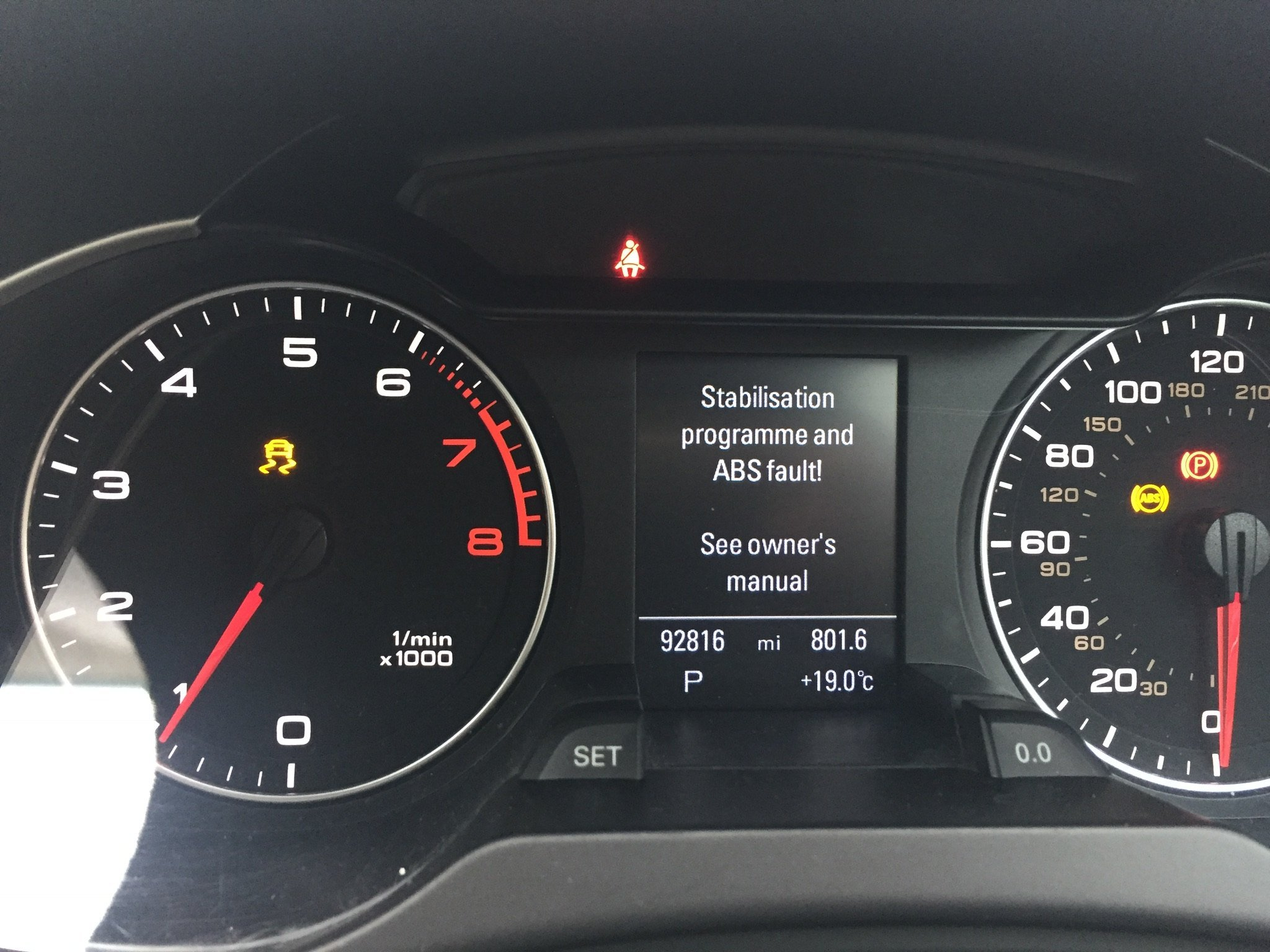 stabilisation abs fault parking brake malfunction