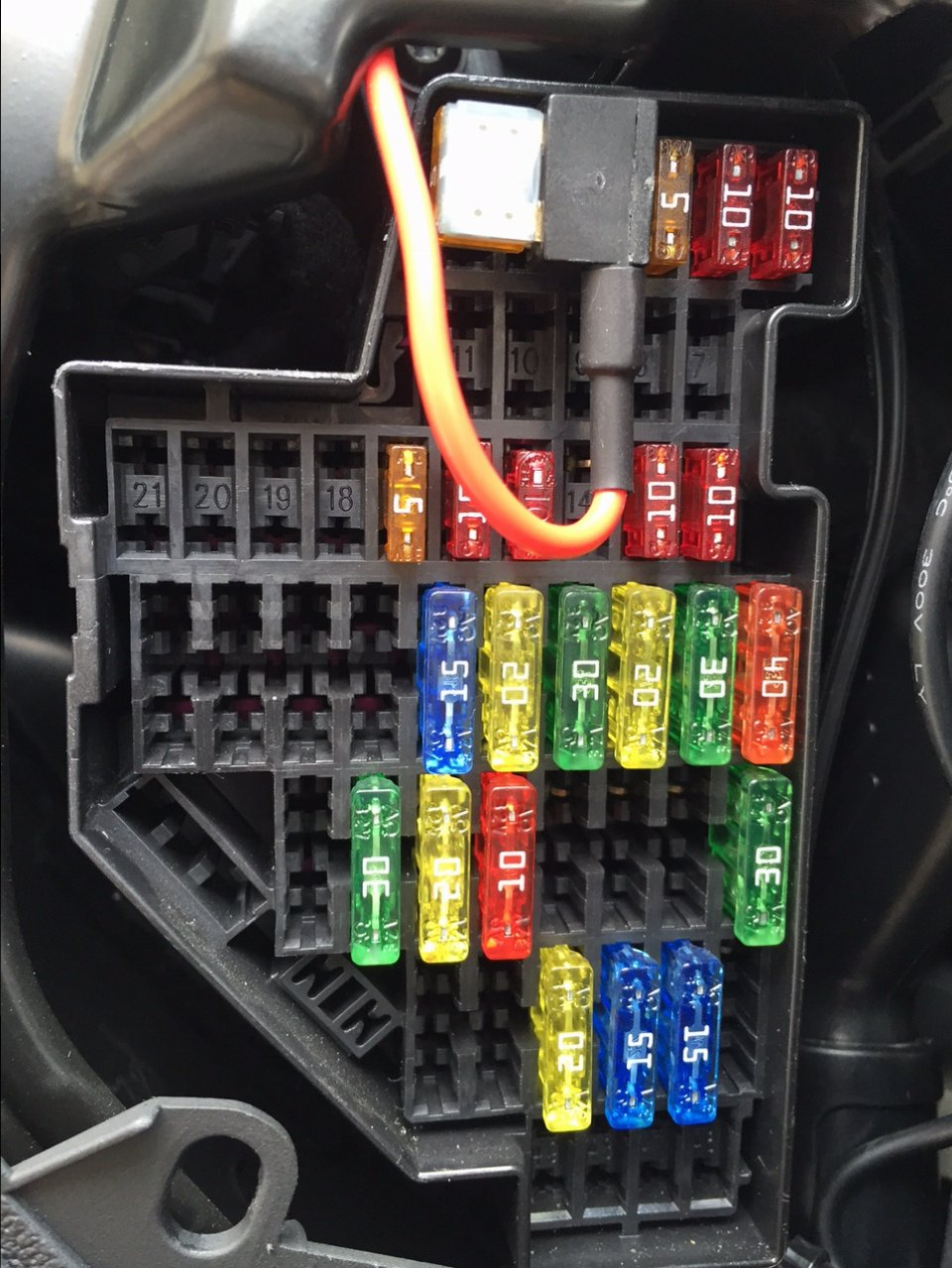 Audi Tt Mk1 Haldex Fuse Location Box Mk2 However On The Inside Of Cover It Says That Should Be