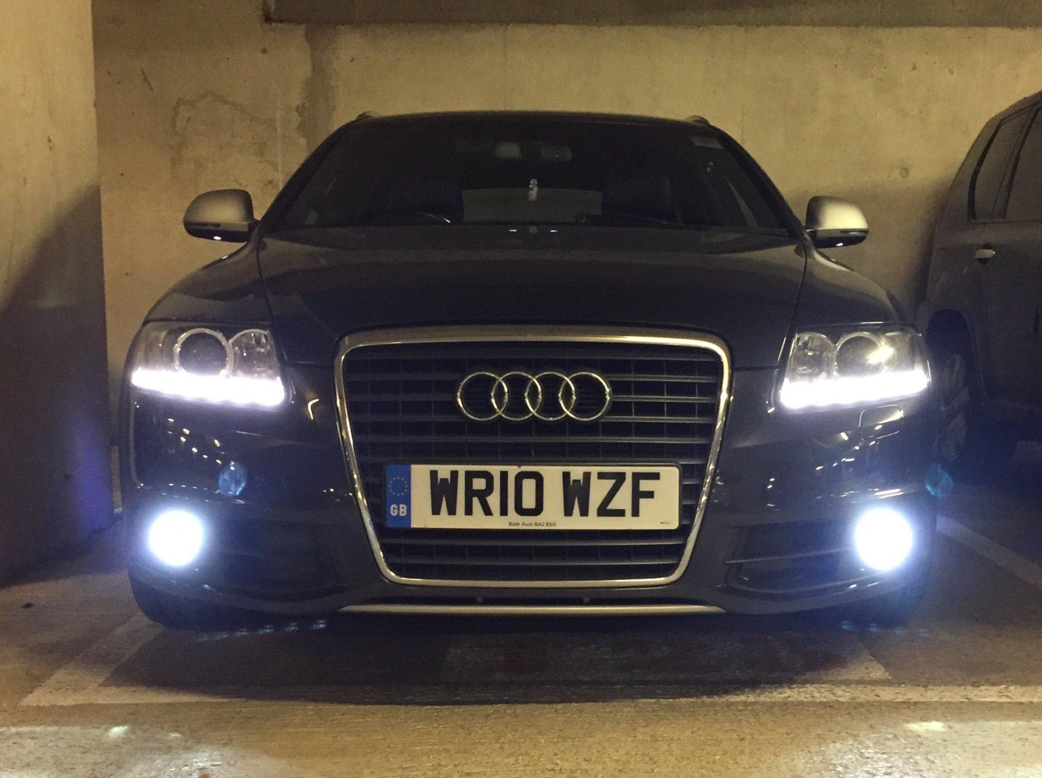 Audi A4 B6 Blue 4-LED Xenon Bright Side Light Beam Bulbs Pair Upgrade