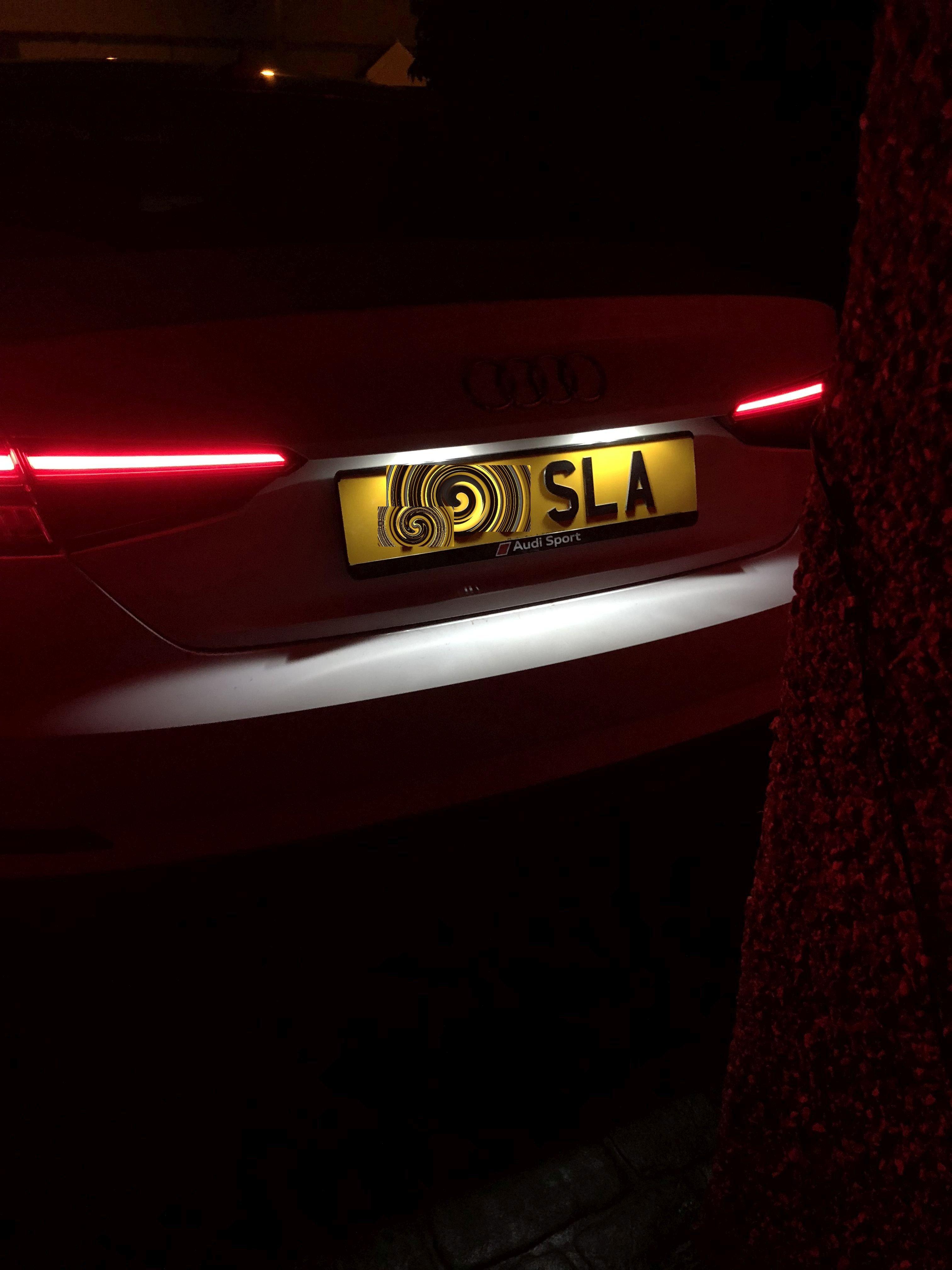 Genuine Audi Sport Number Plate Holder