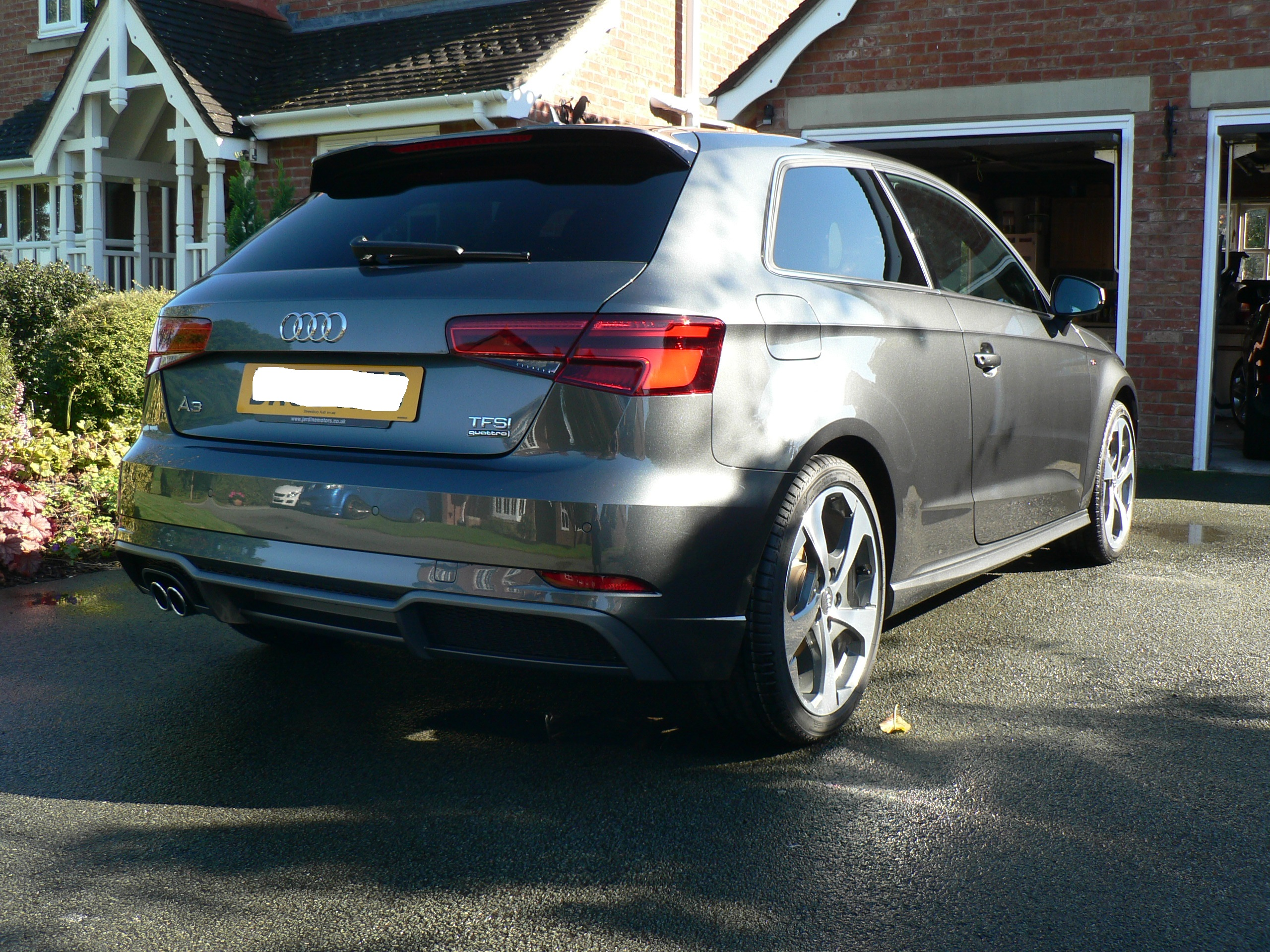 facelift audi a3 hb s line 2 0 tfsi quattro s tronic 190ps in daytona grey audi. Black Bedroom Furniture Sets. Home Design Ideas