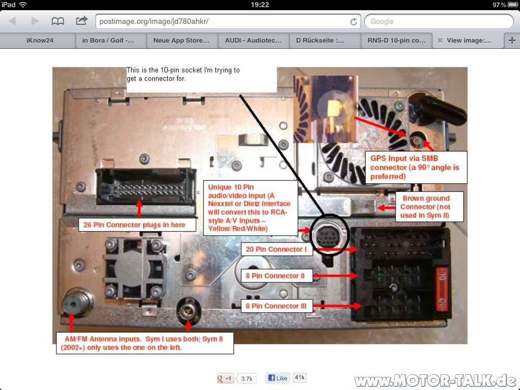 Audi Rns D Wiring Diagram 2004 A4 Quattro Electrical A3 S3 Concert Ii U003e Rnsd Satnav Loom Issues Please Help For 99