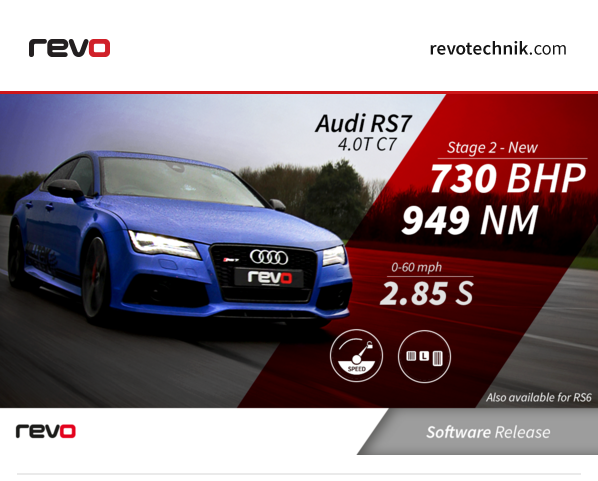 Revo RS Stage Software In Seconds NM BHP - Audi rs7 0 60