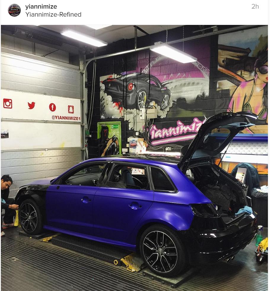Satin Blue Wrapped S3 Audi Sport Net
