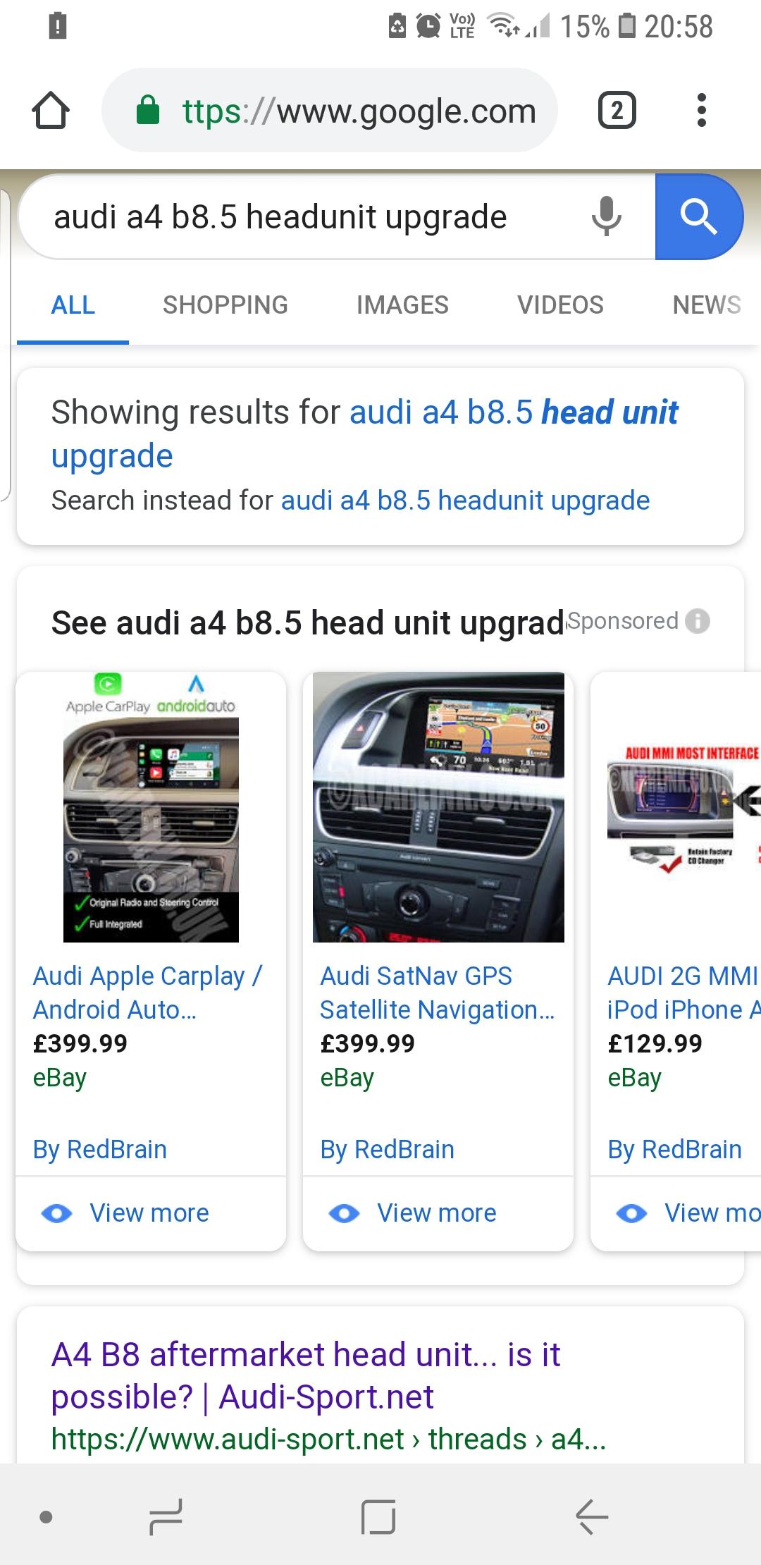 Headunit upgrades | Audi-Sport net