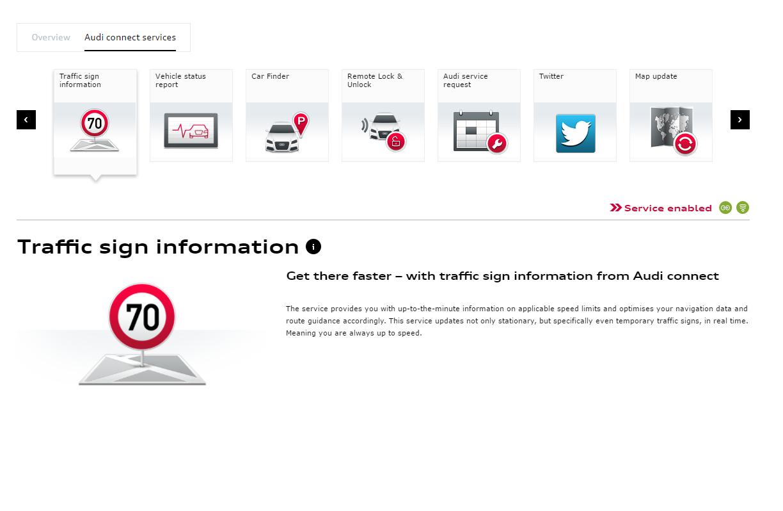 Traffic sign info via audi connect?   Audi-Sport net