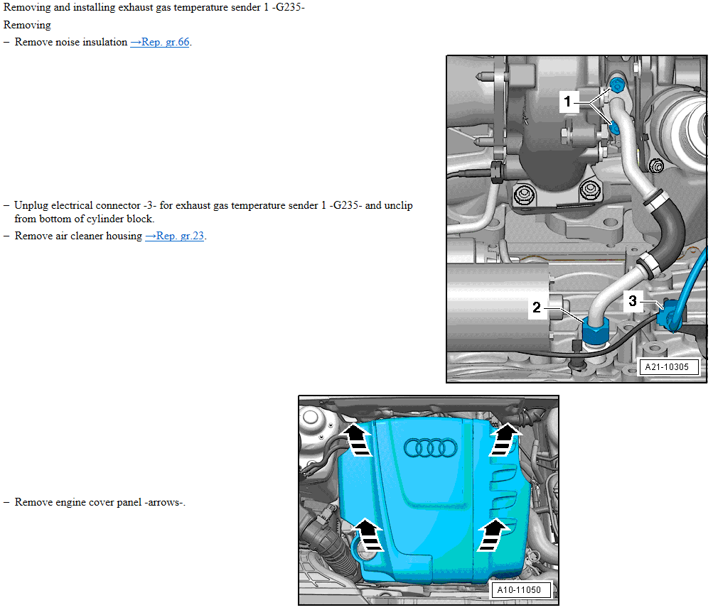 Audi A4 B8 2 0Tdi Exhaust Gas Temp sensor problem  | Audi-Sport net