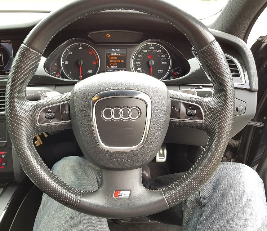 Audi A4 B8 Steering Wheel Upgrade :)