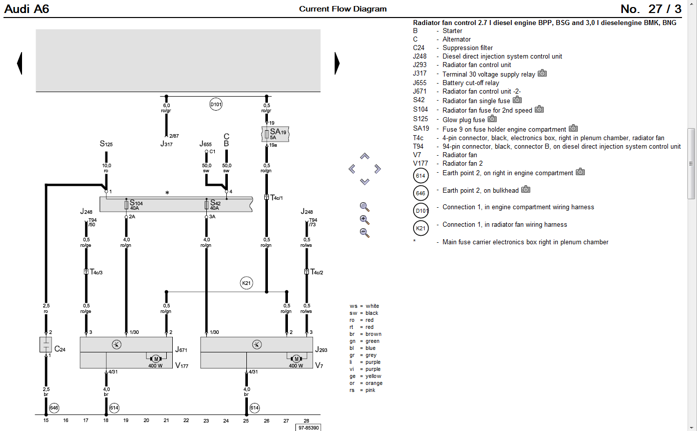 Audi A6 Wiring Diagram : Audi a cooling fan wiring diagram auto