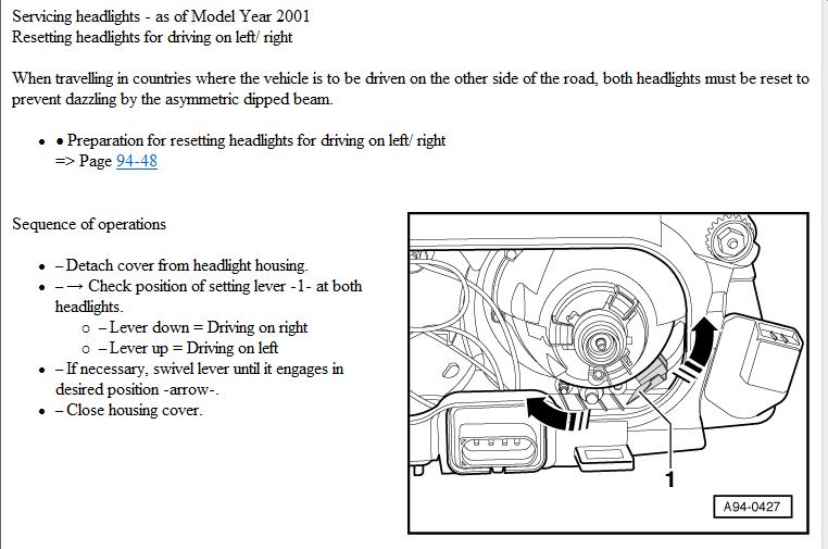 audi s3 8l xenon headlights rhd to lhd adjustment audi sport net rh audi sport net audi a3 8l workshop manual pdf audi a3 8l manual
