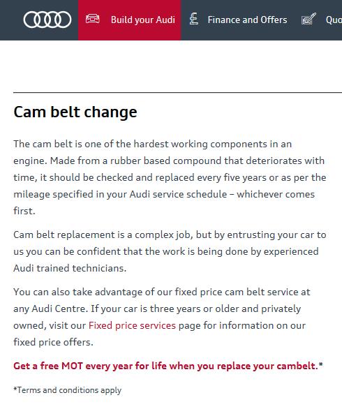 1 6tdi Cambelt Amp Water Pump Intervals Audi Sport Net