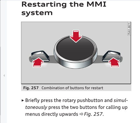 MMI screen issue | Audi-Sport net