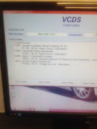 vvt/cam sensor G40/advanced set point not reached ect | Audi-Sport net